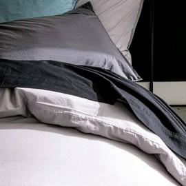 AGEN - Drap Plat 240 x 300 cm - Percale - Uni Noir