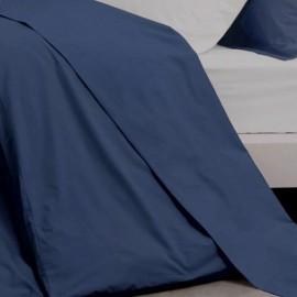 TREGUNC - Drap Plat 240 x 300 cm - Percale - Uni Bleu