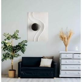 AIX - Tableau Graphique Arty - Cadre 40 x 60 cm