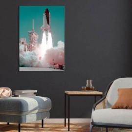 SAKARI - Tableau 80 x 120 - Décollage Fusée Spatiale