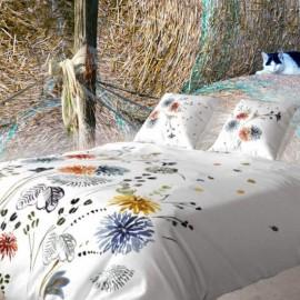 FLORALIES - Housse de Couette 220 x 240 cm Bio - Imprimé Fleuri