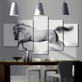 TORNADE - Tableau Cheval - 5 Cadres - 100 x 50 cm