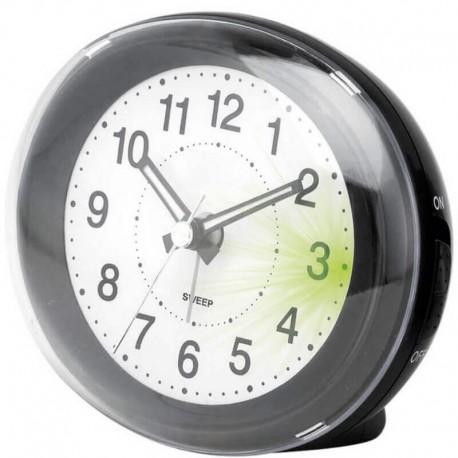 RIVEL - Réveil à Aiguille - Alarme - Lumière - Coloris Noir