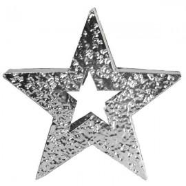 STAR - Etoile Métal Argenté - Esprit de Noel - Décor Design