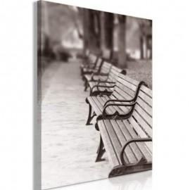 BANCS PUBLICS - Tableau Paysage - Cadre 40 x 60