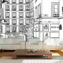 VILLE - Papier Peint Panoramique - Largeur 250 cm