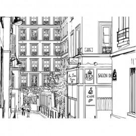 VILLE - Papier Peint Panoramique - Largeur 200 cm