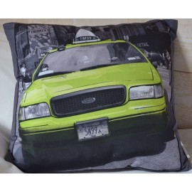 Coussin EMPIRE, voiture fluo