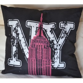 Coussin EMPIRE, BUILDING fluo NEW YORK