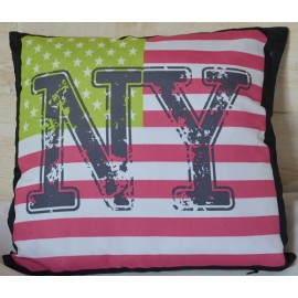 EMPIRE coussin 40x40 imprimé NEW YORK