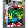 GRAFFITI, le tabouret en carton