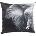 Coussin ELEPHANT 45x45 cm gris imprimé