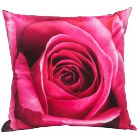 Coussin ROZA coeur de rose 45*45 cm