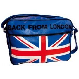 Sac reporter London - col. bleu - bandoulière pour porté épaule
