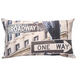 Coussin BROADWAY 30x50 - Imprimé USA pont new-yorkais
