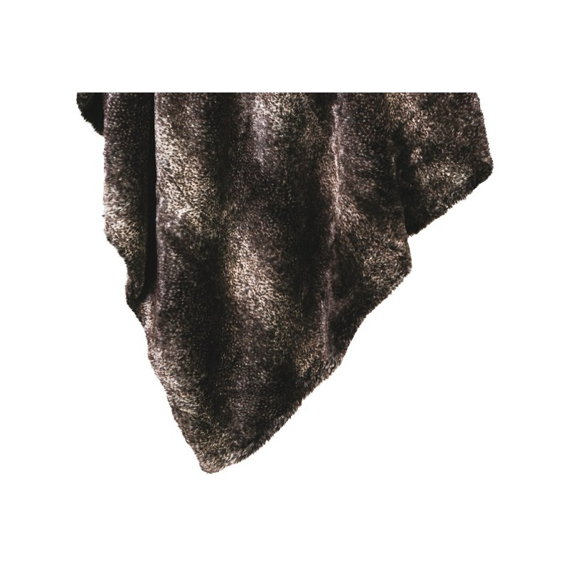 lupo plaid fausse fourrure poil imitation loup gris. Black Bedroom Furniture Sets. Home Design Ideas