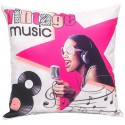 PIN UP Coussin girly 40x40 cm design vintage music