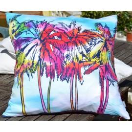 GROVE Housse de coussin 50x50 cm motif palmiers
