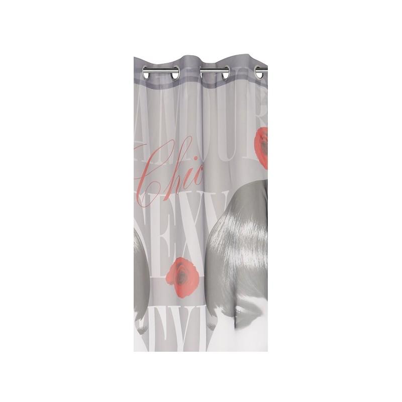 sexy girls voilage 140x250 rideau fen tre chambre ado kolorados. Black Bedroom Furniture Sets. Home Design Ideas