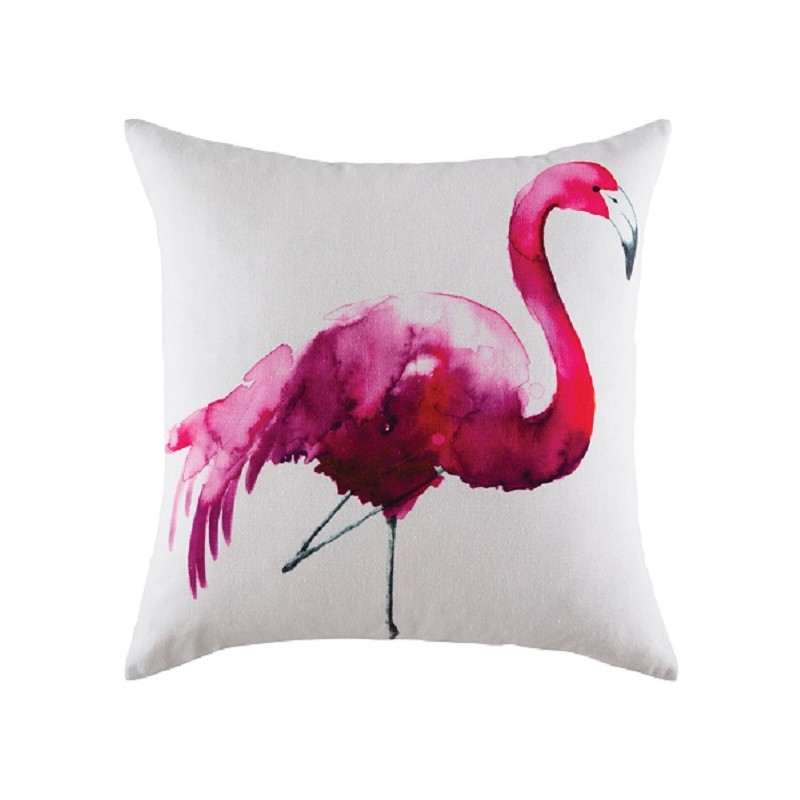 flamingo housse coussin 50x50cm carr d coration flamant. Black Bedroom Furniture Sets. Home Design Ideas