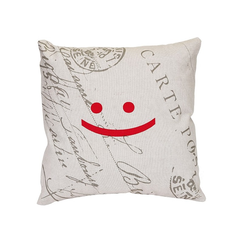 smile housse coussin 40x40cm sourire smiley d coration. Black Bedroom Furniture Sets. Home Design Ideas
