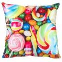 LOLLIPOP coussin bonbons sucettes 40x40cm chambre adolescent