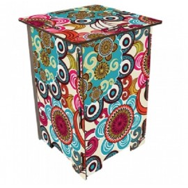 MANDALA - Tabouret en Medium Multicolore