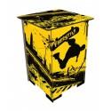FREESTYLE - Tabouret en Medium imprimé Jaune et Noir motif Skate
