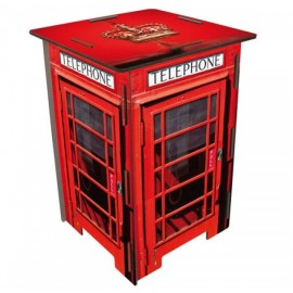LONDON PHONE BOOTH Tabouret en medium