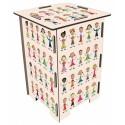 CHILDREN Tabouret en medium imprimé ronde d'enfants écoliers