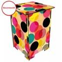 DOTS - Tabouret en Medium imprimé de Pois, ronds Multicolores