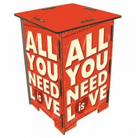 YOU NEED LOVE Tabouret en medium
