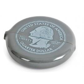 SILVER QUARTER porte-monnaie gris dollars US bourse range pièce