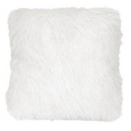 MISTY coussin fourrure blanche imitation poil angora 45*45 cm