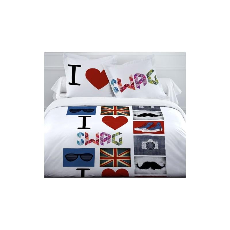housse de couette 1 personne ado housse de couette ado t te de mort 140x200 pas cher badaboum. Black Bedroom Furniture Sets. Home Design Ideas