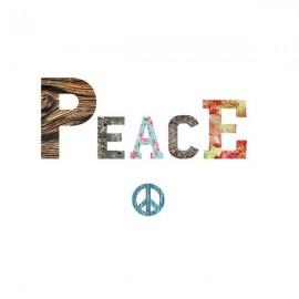 PEACE - Lettres en Medium décorées Auto-Adhésives