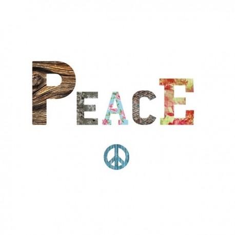 PEACE lettres en medium décorées auto-adhésives