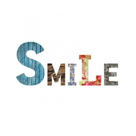 SMILE lettres en medium décorées auto-adhésives