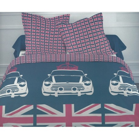 housse de couette london parure de lit london flag chambre d ado union jack kolorados. Black Bedroom Furniture Sets. Home Design Ideas