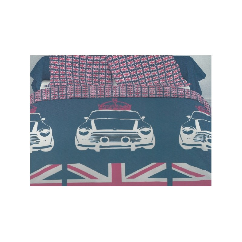 housse de couette london parure de lit london flag chambre d ado union jack. Black Bedroom Furniture Sets. Home Design Ideas
