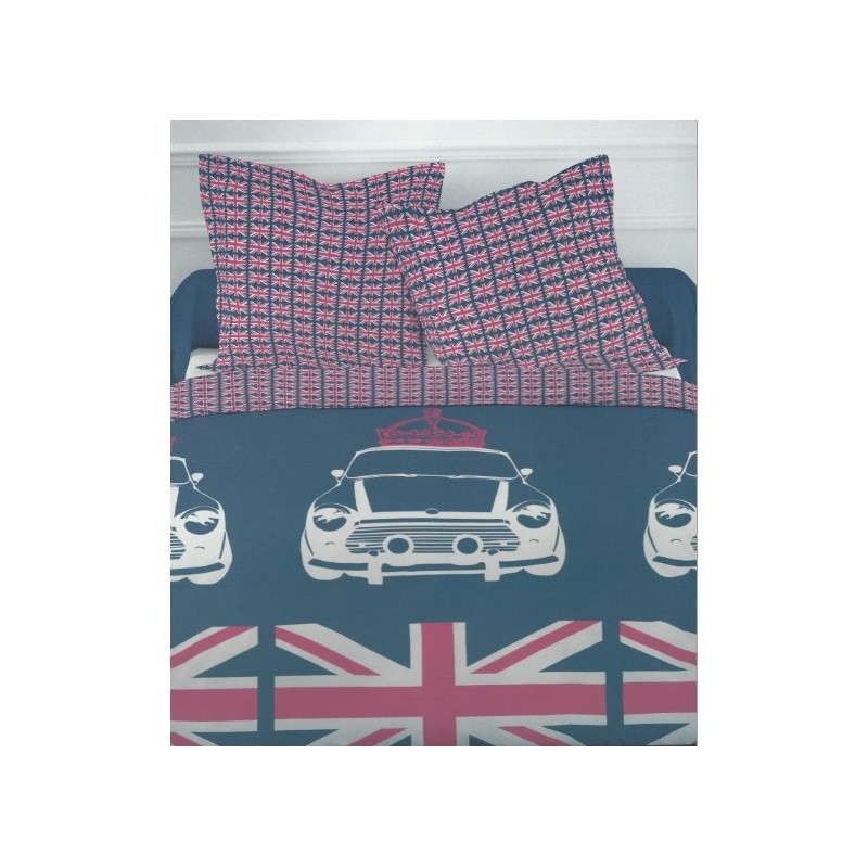 Housse de couette london parure de lit london flag for Housse de couette london 1 personne