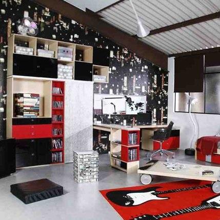 Chambre d 39 ado ambiance studio kolorados - Style de chambre ado ...