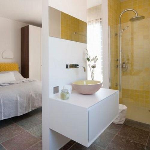 Chambre coucher comment penser son am nagement - Salle de bain ouverte sur chambre ...