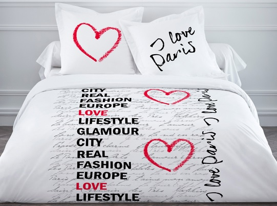 Une saison pleine de douceur avec le linge de lit qui vous for Housse de couette une place
